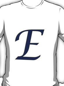 "Calligraphy Letter ""E"" T-Shirt"