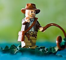 LEGO Indiana Jones with an Alligator by jarodface