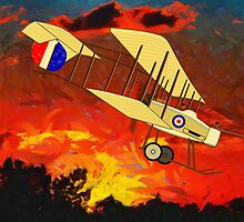 "A Royal Flying Corps Vickers F.B.5  ""Gunbus"" 1914 by Dennis Melling"