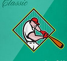 Big League Baseball Classic Retro Poster by patrimonio