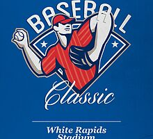 Pro Baseball Classic Tournament Retro Poster by patrimonio