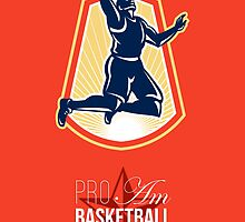 Pro Am Basketball Invitational Retro Poster by patrimonio