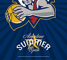 Amateur Summer Basketball League Open Poster by patrimonio