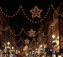 Christmas Lights in Colmar, Alsace, France by remos