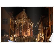 Christmas Lights, in Colmar, Alsace, France Poster