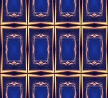 Blue & Golden Squares Pattern by Mariaan Maritz Krog Photos & Digital Art