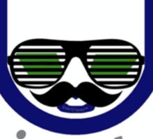 Hipster Napster Parody Logo  Sticker