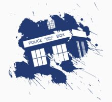 Splash tardis by QuinOfWesteros
