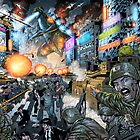 Godzilla Stomps Tokyo by Al Rio by alrioart