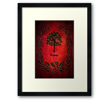 On the first day of Christmas Framed Print