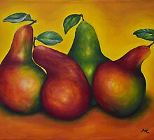 Four Pears by Zorrria