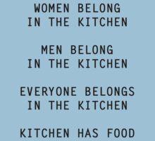Unsexist Kitchen T-Shirt by rynooooooooooo