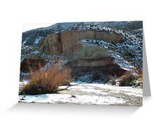 Snow Desert Wash Greeting Card