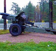 Gun at Lapland War memorial by boogeyman