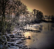 Snow and Ice on the Big Muddy by Charles & Patricia   Harkins ~ Picture Oregon