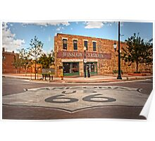 Flatbed Ford and Winslow Route 66 Poster