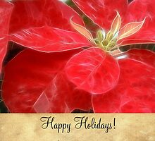 Mottled Red Poinsettia 1 Ephemeral Happy Holidays S2F1 by Christopher Johnson