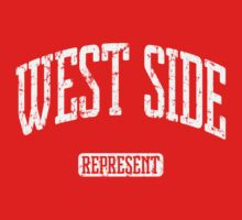 West Side Represent (White Print) Kids Clothes