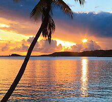 Tropical Sunset St. Thomas by Roupen  Baker
