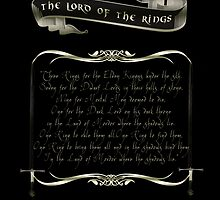 One Ring to Rule them All-The Lord of the Rings by augustinet