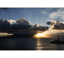 Vesuvius Cloud Eruption Over the Bay of Naples Photographic Print