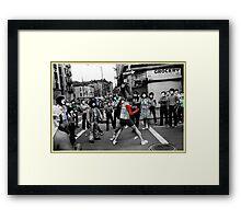 Street Fight Framed Print