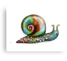 Rainbow Snail Canvas Print