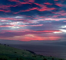 Red sky by night - Tranmere, Tasmania by clickedbynic