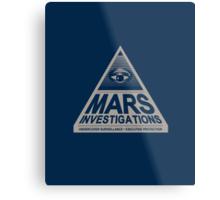 MARS INVESTIGATIONS - BLUE Metal Print