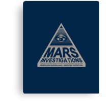 MARS INVESTIGATIONS - BLUE Canvas Print
