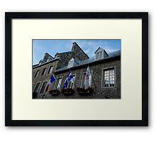 Old Stone Houses in Quebec City, Canada  Framed Print