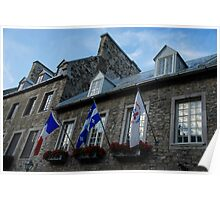 Old Stone Houses in Quebec City, Canada  Poster