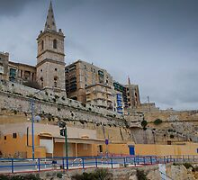 Marsamxett Creek Valletta Malta by Edwin  Catania