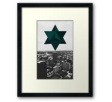 Star Tetrahedron Descent Framed Print