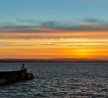 BURGHEAD BOXING DAY SUNSET by JASPERIMAGE