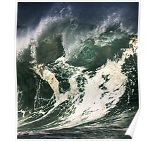 Monster Waves At Waimea Bay Poster