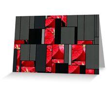 Mottled Red Poinsettia 2 Art Rectangles 7 Greeting Card