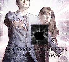 an apple a day keeps the doctor (who) away version 4 by LokiLaufeysen
