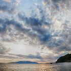 Sunset on the sea landscape of the Pacific Northwest Larrabee State park sunset on Puget Sound panoramic fine art - M e Nuvole by visionitaliane
