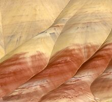 Painted Hills desert close up red orange color - Linee e Colori by visionitaliane