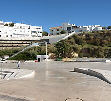 With Escalator to the Beach by Janone