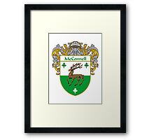 McConnell Coat of Arms/Family Crest Framed Print