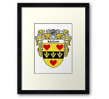 McCord Coat of Arms/Family Crest Framed Print