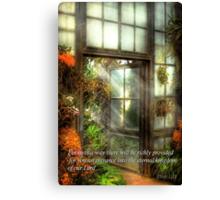 Inspirational - The door to paradise - Peter 1-11 Canvas Print
