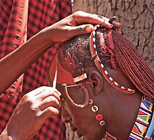 Masai Face Paint by phil decocco