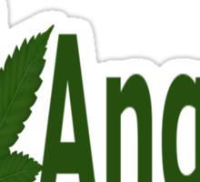 0186 I Love Angola  Sticker