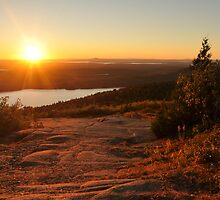 Sunset on Cadillac Mountain by Michele Conner