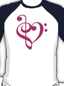 Treble-Bass Heart PINK T-Shirt