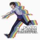 Flaming Homosapien! by GoldenBlackHawk