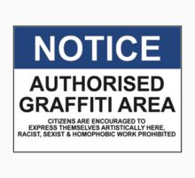 AUTHORISED GRAFFITI AREA by Rob Price